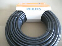 White Coaxial Cable Digital Coax Cable for Audio and 15.2m Philips RG6 50 ft