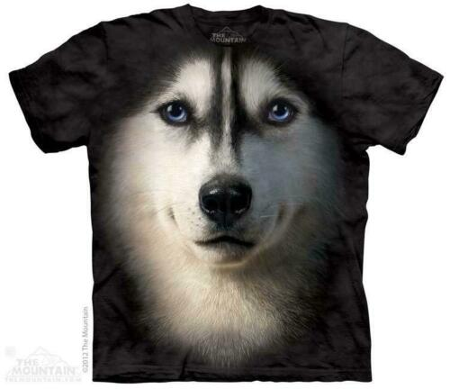 Big Siberian Husky Face The Mountain T-Shirt 3337 All Sizes