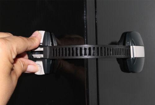 BabyDan Multi Lock Kitchen Cupboard Baby Proofing Drawer Locks 2 Pack Black