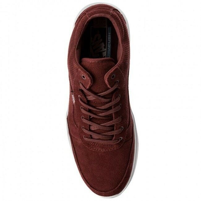 Vans Style 201 Perf Uomo's Size 9 Madder Brown White Vault Perforated Suede