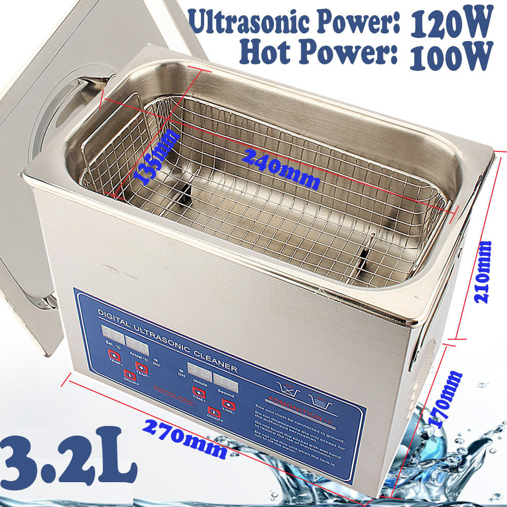 Digital Stainless Ultrasonic Cleaner Ultra Sonic Bath Cleaning Tank Timer Heate 4