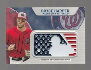 Bryce-Harper-2017-Topps-Commemorative-MLB-Silhouetted-Batter-Logo-Patch