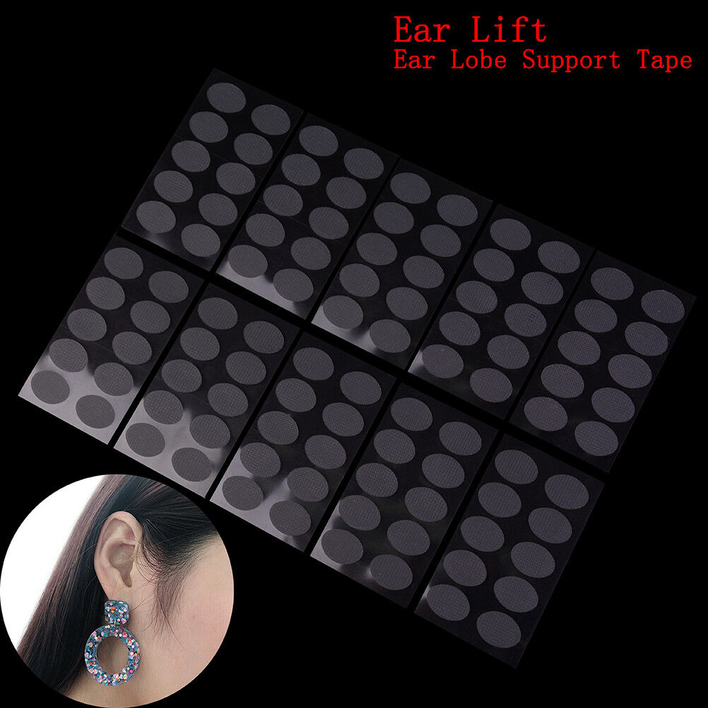 6sheets Ear Lobe Tapes Invisible Lift Support PreventsStretched Torn Protecti *u