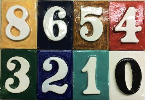 outdoor weatherproof design Applewood Pottery House Address number tiles