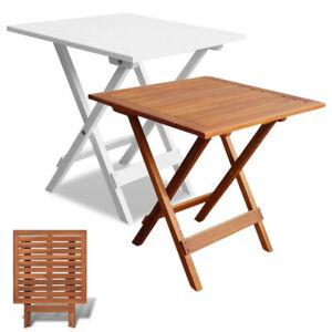 Beistelltisch Klapptisch.Details Zu Gartentisch Holztisch Klappbar Beistelltisch Klapptisch Quadratisch Weiß Braun