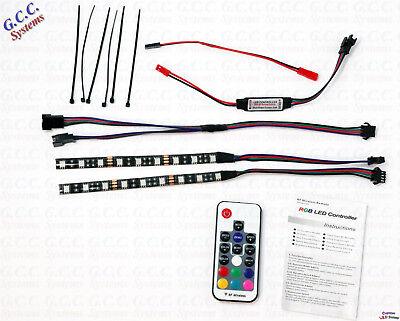 2x 150mm Waterproof Multicolour Rf Remote Rgb Rc Car Rear