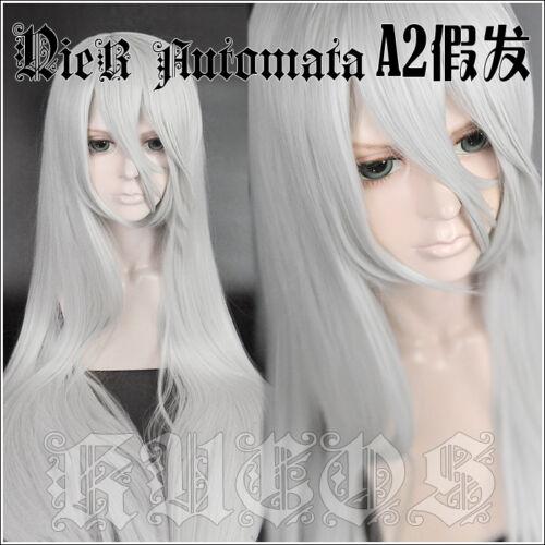 NieR Automata A2 YoRHa Type A No Silvery White Sa 2 Cosplay Long Hair Wig Ver
