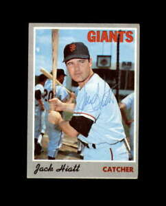 Jack Hiatt Hand Signed 1970 Topps San Francisco Giants Autograph