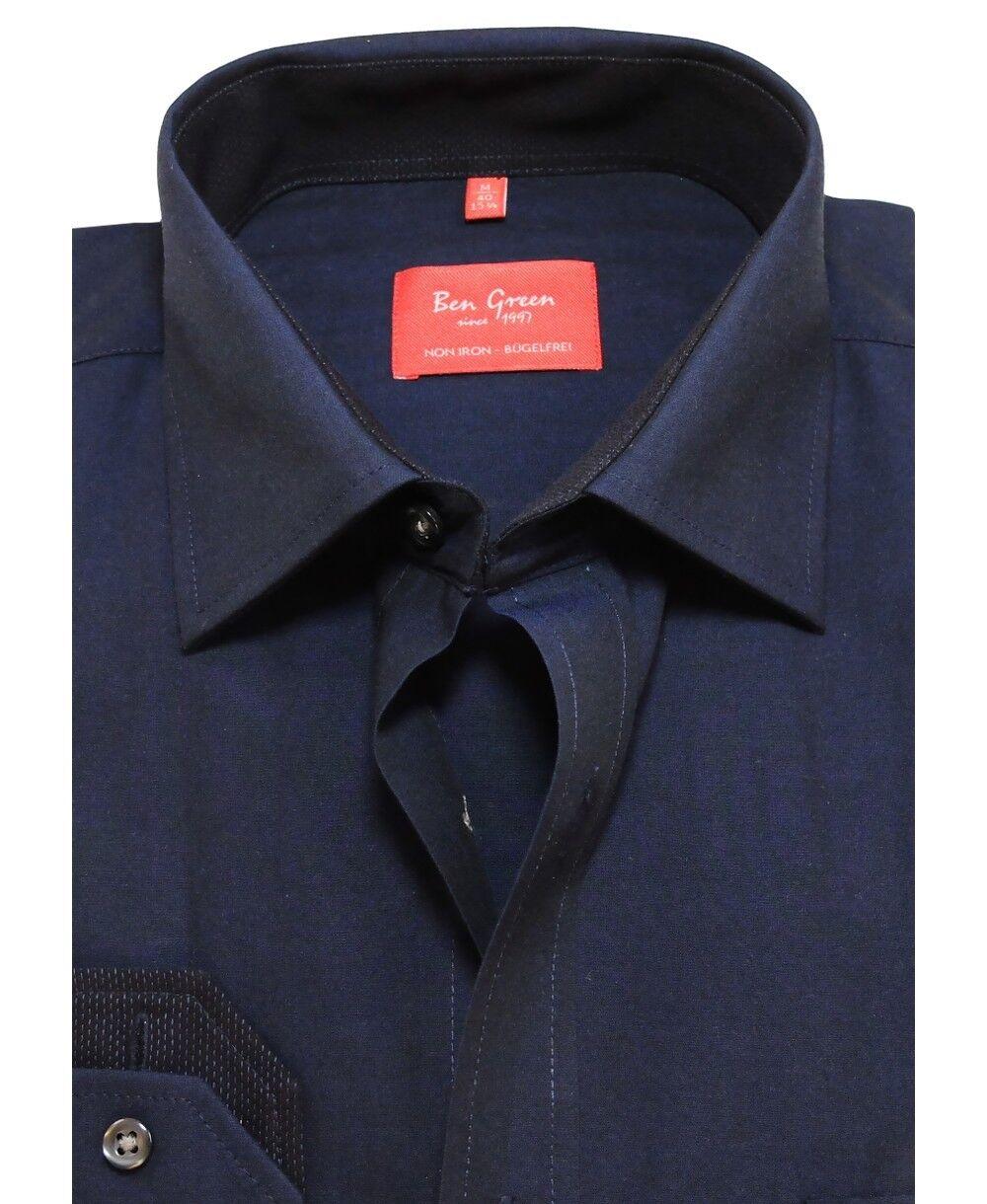 Ben Grün rotline rotline rotline Regular Fit Langarmhemd dunkelblau mit Patches Gr. 40 bis 48 | Neue Produkte im Jahr 2019  | Einfach zu spielen, freies Leben  | Wunderbar  1d8268