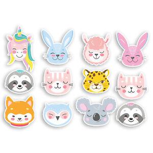 A4-Sheet-Cute-Animals-Vinyl-Stickers-Unicorn-Bunny-Dog-Llama-Sticker-20892