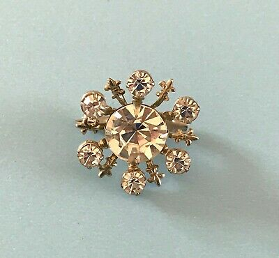 Vintage Doll Jewelry Rhinestone Brooch Madame Alexander Cissy Miss Revlon Bisque