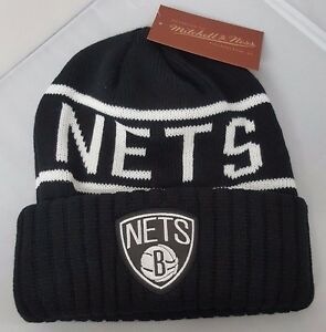 Mitchell   Ness NBA Brooklyn Nets Cuffed Beanie Knit Hat Reflective ... c4e05b89da09