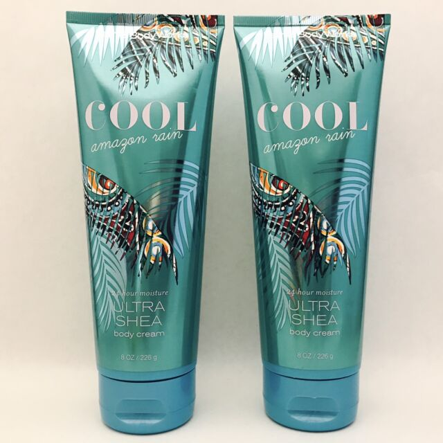 2 Bath & Body Works Cool Amazon Rain Ultra Shea Body Cream 8 oz 236 ml