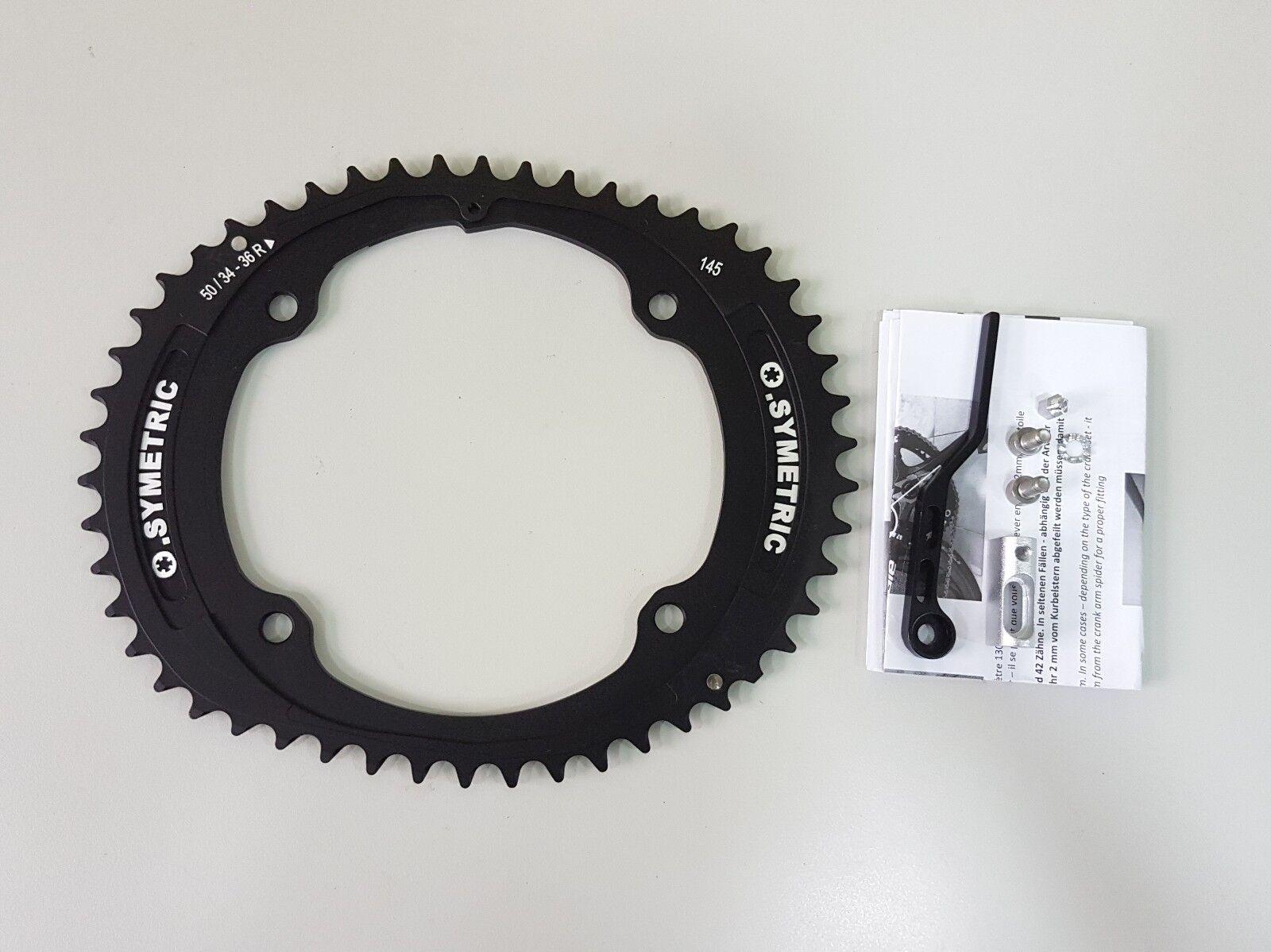 OSYMETRIC Bicicleta Plato BCD145x4 50 T Negro