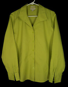 Chico 39 S Cotton No Iron Wrinkle Resistant Chartreuse Green
