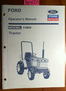 ford  holland  tractor owners operators manual