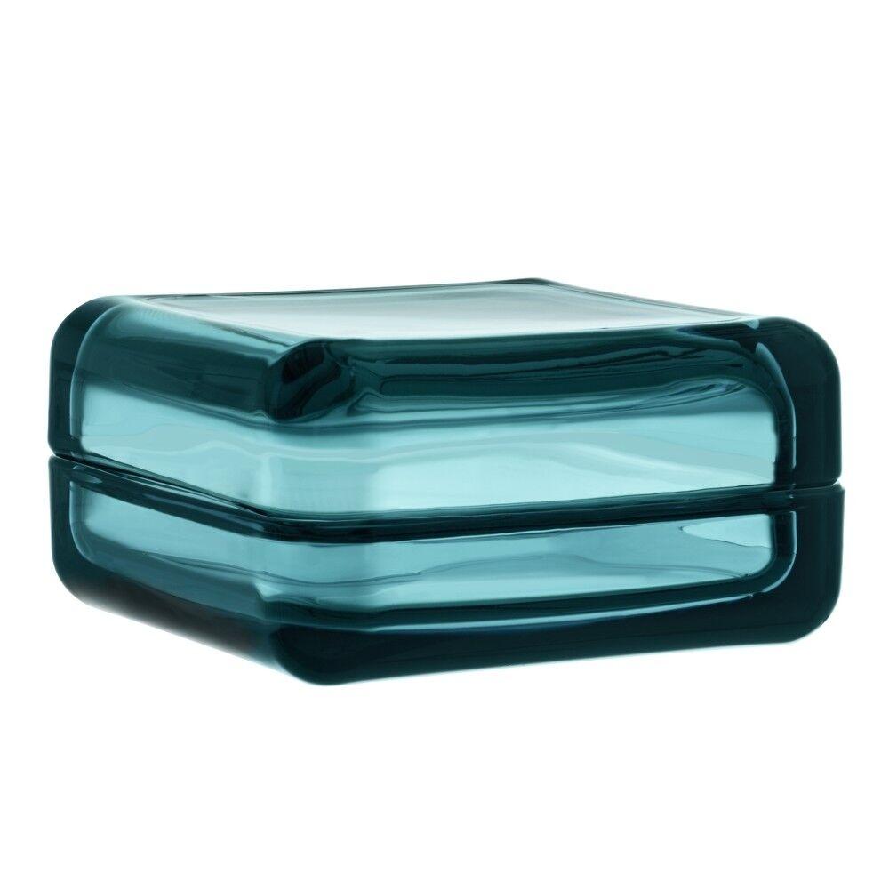 Iittala Vitriini Glasdose - groß - seeblau - 10.8 x 10.8 cm - NEU | Innovation