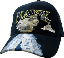 U.S. Navy With AIRCRAFT CARRIER Officially Licensed Baseball Cap Hat