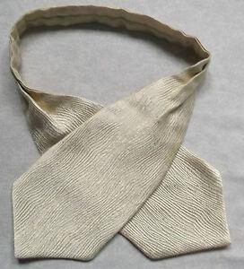 Garçons Cravate Mariage Ascot Cravate Formelle Parti Taille Unique Brillant Or Crème-afficher Le Titre D'origine