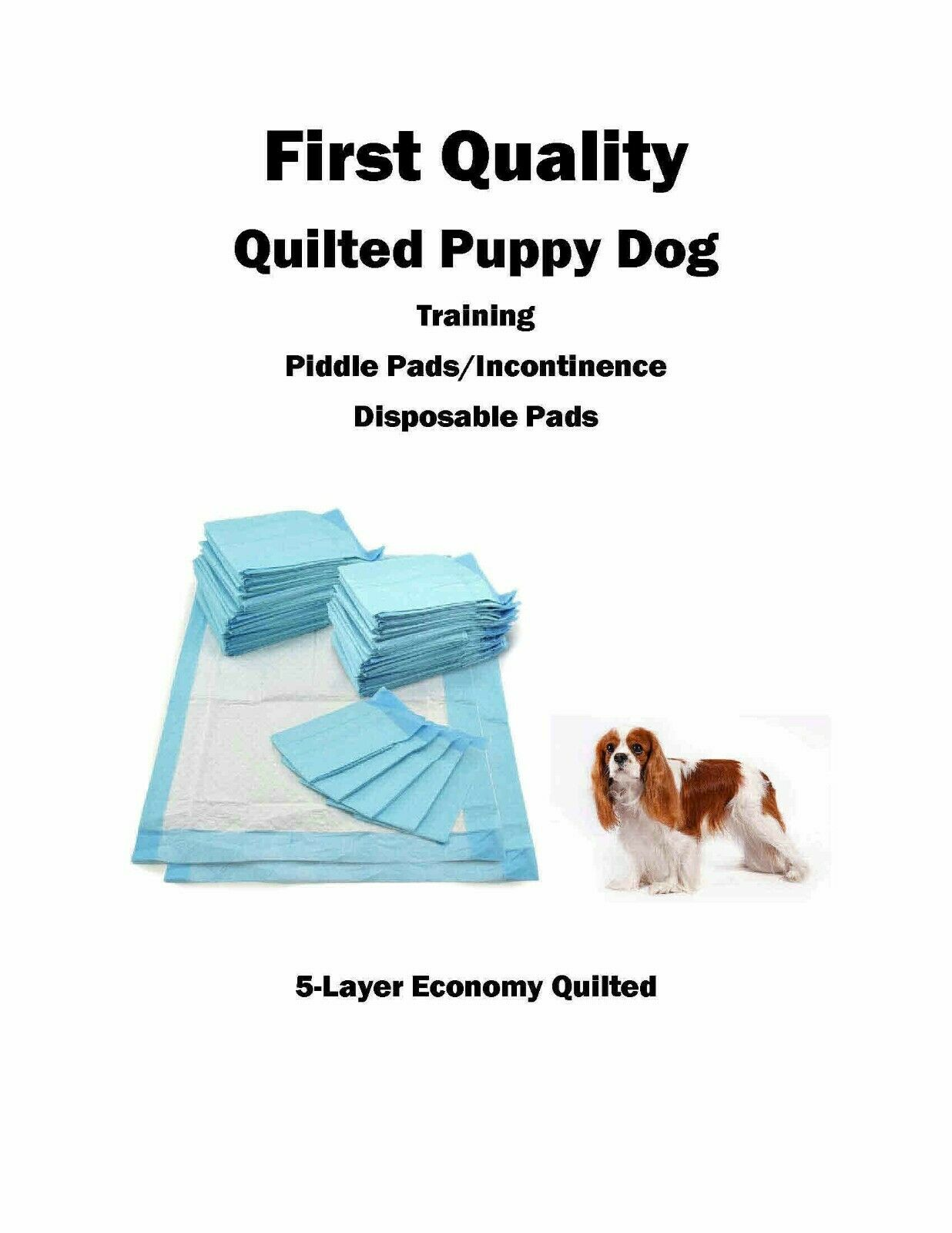 17x24  1200 SUPER Absorbent Quilted 5-Layers Puppy Piddle Pee Pads with SAP