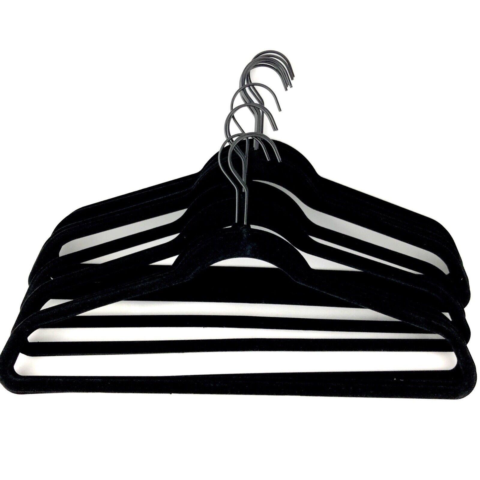 purple NEW 50//100//200//400ps Non-slip Velvet Clothes Hanger Heavy Duty Black