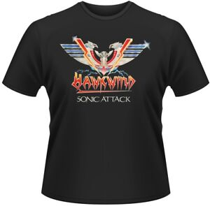 HAWKWIND-039-Sonic-Attack-039-T-shirt-Neuf-et-officiel