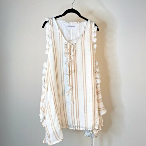 New Authentic SUNDRESS Ginger Dress in Gold//White Flowers XS//S M//L