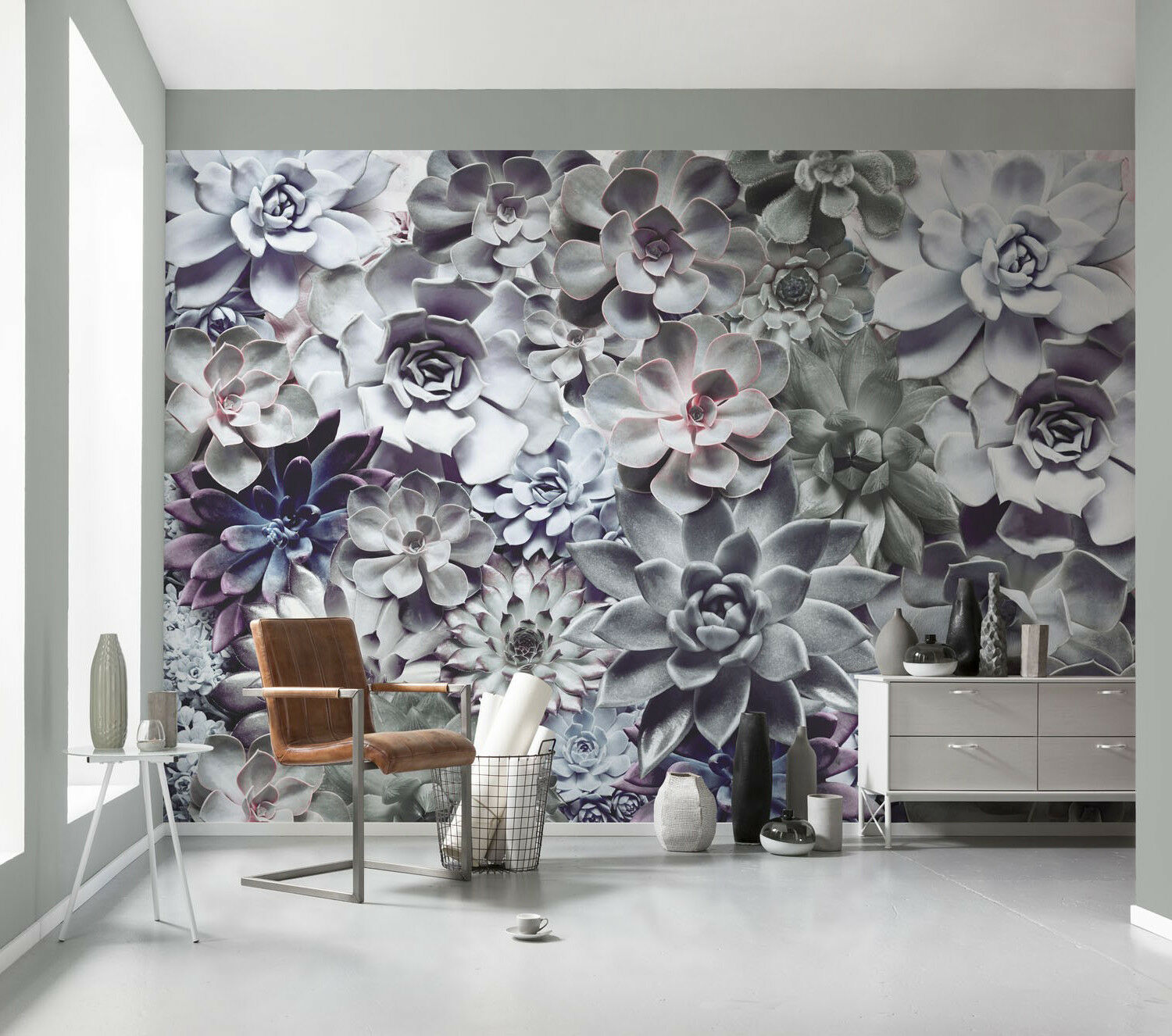 GIANT Wall Mural Photo Wallpaper SHADES lila FLOWERS Sitting Room Decor