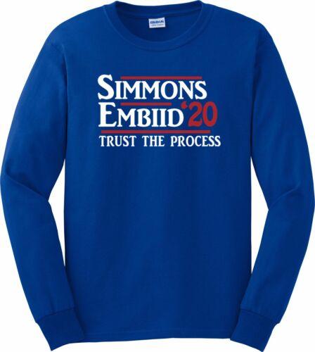 Ben Simmons Joel Embiid Philadelphia Trust The Process 2020 Hooded Sweatshirt
