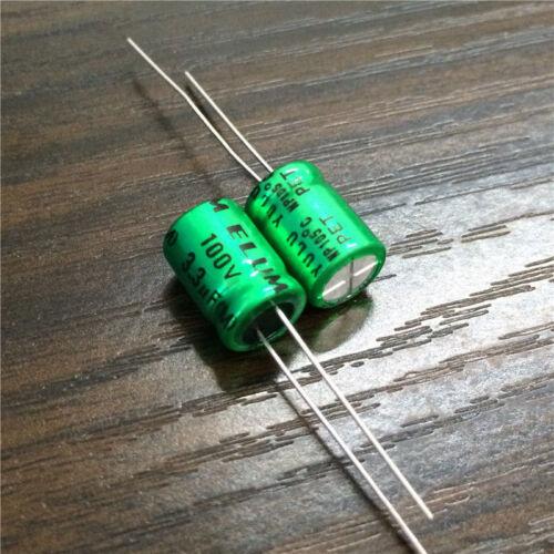 20pcs 100V 3.3uF 100V ELUM NP 8x11.5mm Bipolar Electrolytic Capacitor
