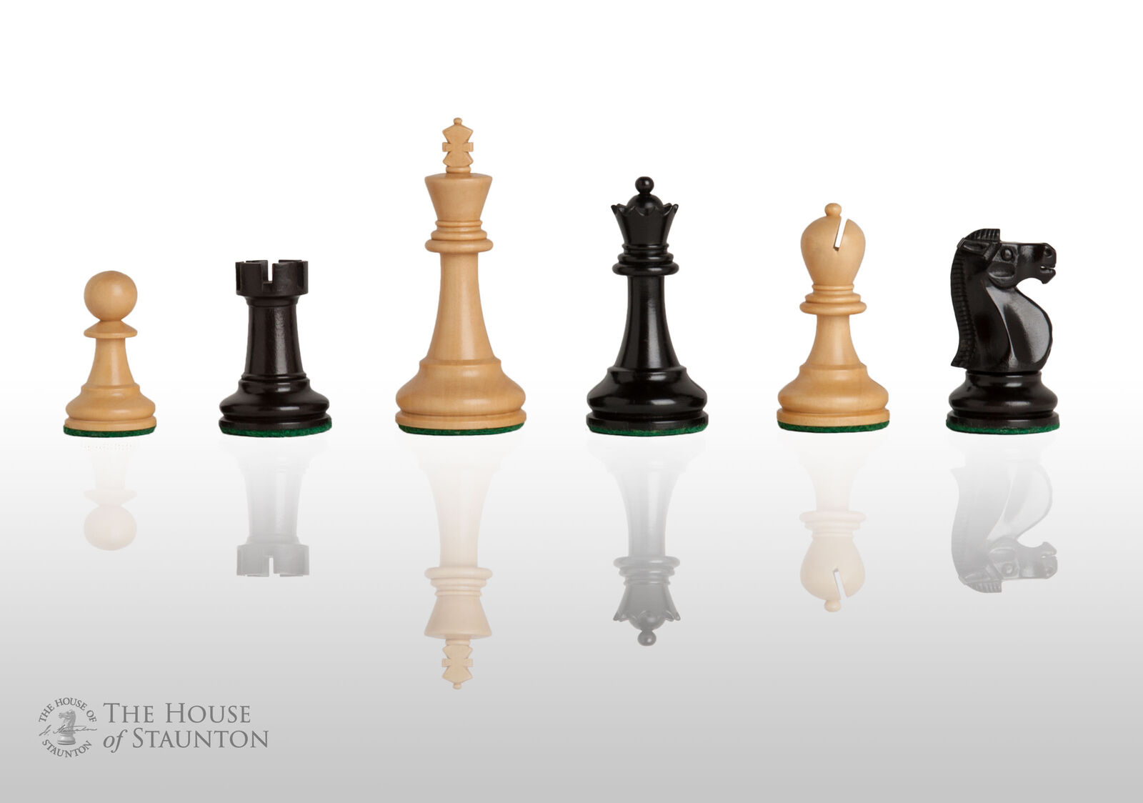 USCF Sales The Reykjavik II Chess Set - Pieces  Only - 3.75  re - Ebonized scatolaw  colorways incredibili