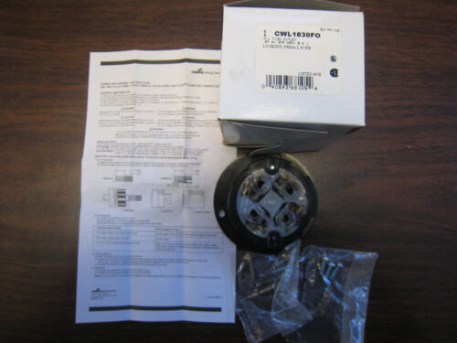 COOPER CWL1630FO H//L FLANGED OUTLET 3P 4W 30A 480V NEW FREE SHIPPING
