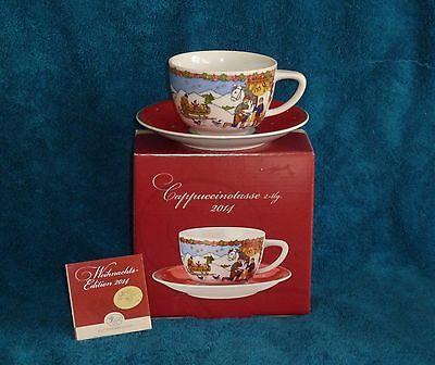 Hutschenreuther,NEU,Cappuccino Set,Weihnachten,Beim Hufschmied,OVP,Porzellan