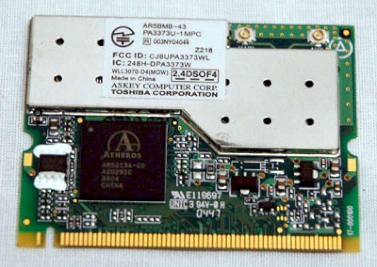 Toshiba Satellite A75 M35X Laptop WiFi WIRELESS CARD PA3373U-1MPC AR5BMB-43 A70