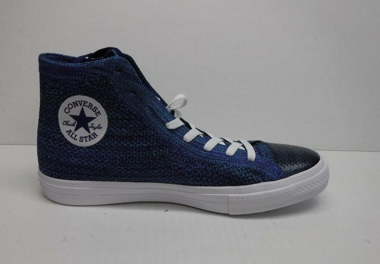 Converse All * Star Taglia 11 Scarpe da Ginnastica Blue High Tops New Uomo Scarpe