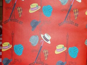 VINTAGE WRAPPING PAPER GIFT WRAP 1950 RUST CRAFT FATHERS DAY HATS POP DADDY DAD