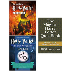 Details about Magical Harry Potter Quiz Book Unofficial Cookbook 3 Books  Collection Set NEW