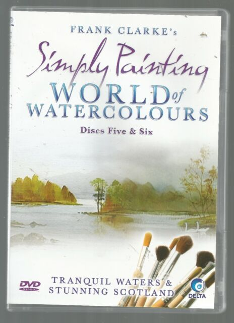 Simply Painting WATERCOLOURS Tranquil Waters Stunning Scotland Frank Clarke DVD