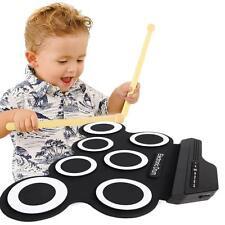 Elektronische Roll Up Drum Pad Kit, tragbare E-Drum mit eingebautem Lautspreche