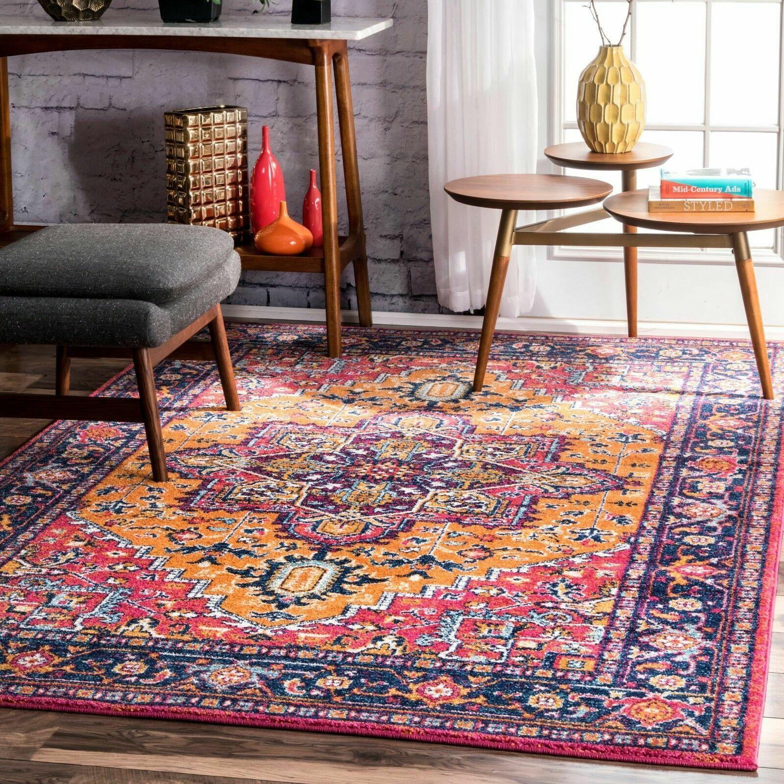 Nuloom Traditional Vintage Bohemian Area Rug In Pink Purple Orange Multi For Sale Online