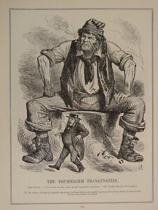 7x10-034-PUNCH-cartoon-1906-245-THE-BRUMMAGEM-FRANKENSTEIN-john-bright-suffrage