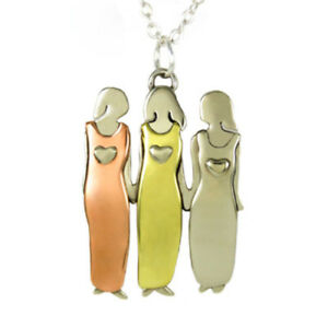 Image Is Loading Three Sisters Friends Necklace Best Pendant