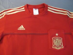 77d78afe3d8 Image is loading ADIDAS-RFCF-SPAIN-NATIONAL-FOOTBALL-SOCCER-JERSEY-RED-