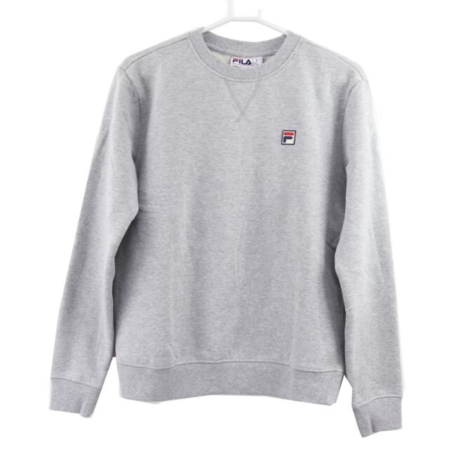 FILA Women's Michele Crew Neck Fleece Sweatshirt, Medium, Grey