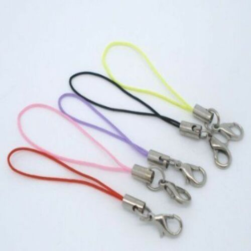 Bag Charms With Lobster Clasp. 10 Mixed Colour Mobile Phone Lanyards