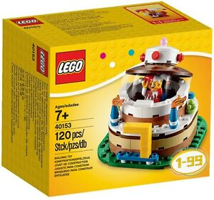LEGO-40153-Gateau-d-039-anniversaire-NEUF-excusivite-LEGO-Birthday-cake-decoration