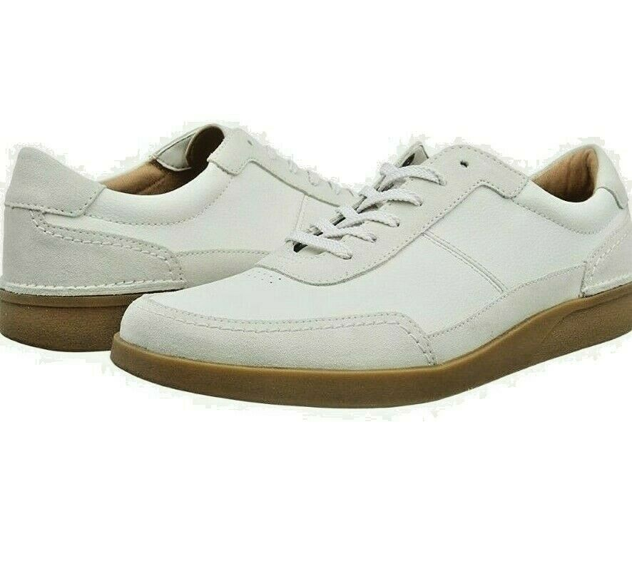 Clarks Oakland Run Shoes/Trainers Active Air In White Leather UK8 Free P&P