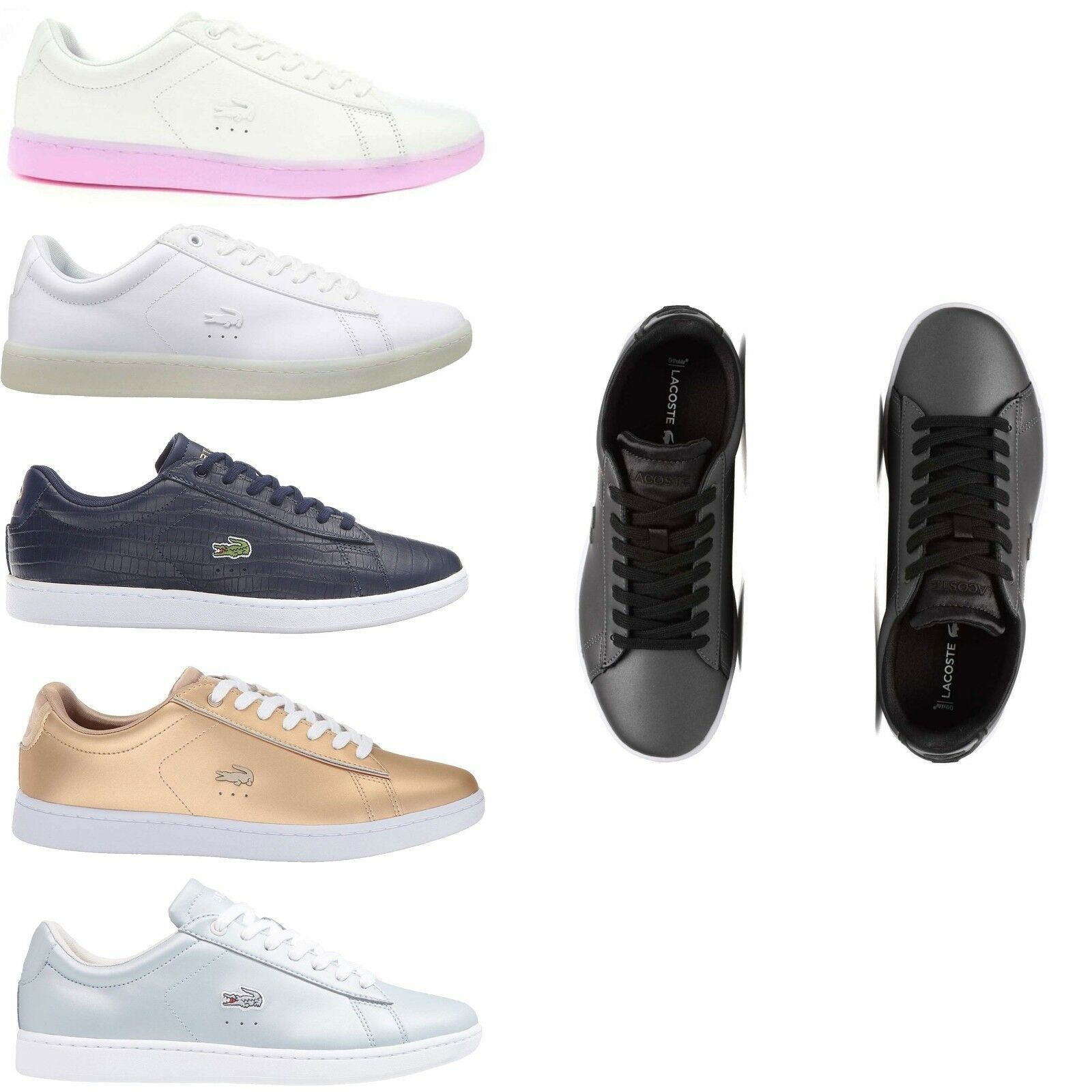 Lacoste Women Carnaby Evo Series Spw Fashion Sneakers Lightweight Tennis shoes