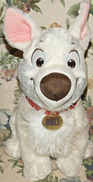 """Disney Parks Plush Bolt with Lightning Authentic 12"""" New Tags Stuffed Animal Toy"""