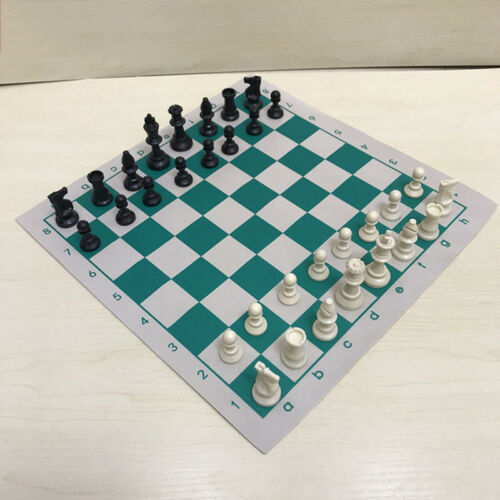 34.5x34.5cm chess board for children/'s educational games green /& white color S6